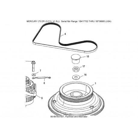 V-snaar Optimax 1.5 ltr 3 cilinder