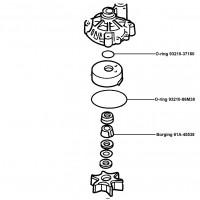 O ring kit voor waterpomp 115 PK  en hoger
