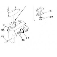 Staartstuk Seal Kit Yamaha 4A, 5C & F4A