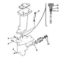 Staartstuk Seal Kit Yamaha 20C 25D 30A