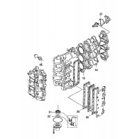 Pakkingset 40 Mercury & Tohatsu 3 cilinder