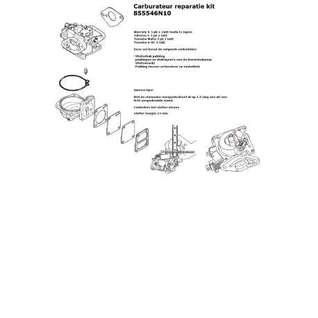 Carburateur reparatie set 3A malta en 6C & 8C