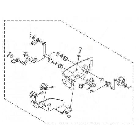 aanbouwkit Yamaha 9.9 & 15F  2 takt