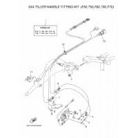 gas & schakelkabel montage kit F50 F60 EFI