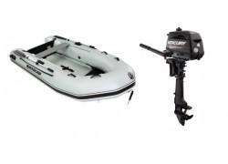 Quicksilver opblaasboot in combinatie met Mercury buitenboordmotor